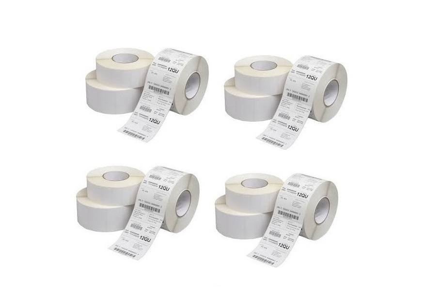 Cognitive Labels Adhesive Paper White 1x2.3 1685pcs Case of 12 Rolls 03-02-1656