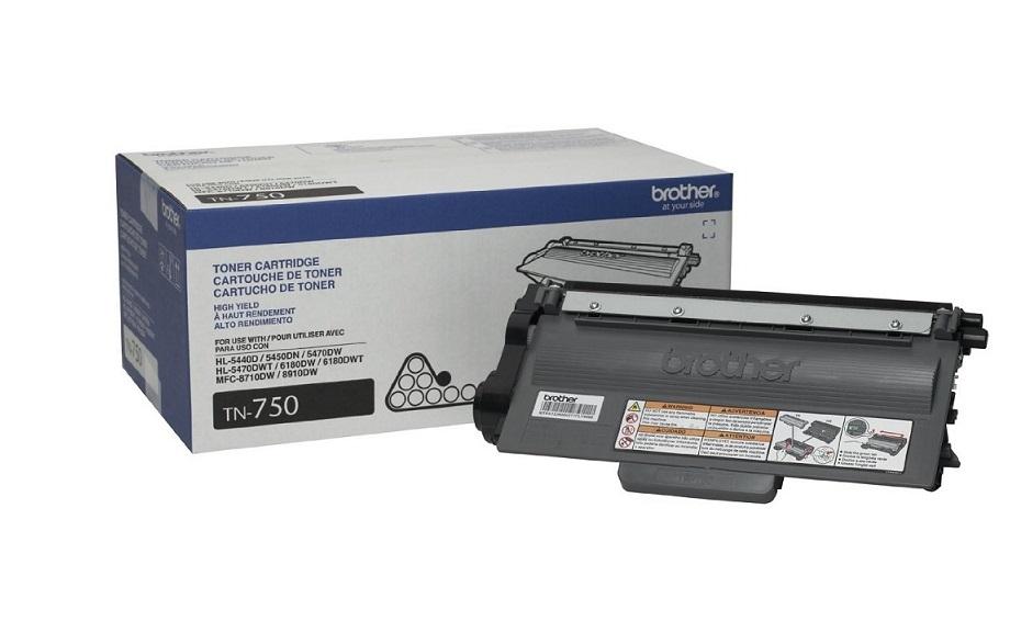 Brother Genuine TN-750 High Yield Black Toner Cartridge TN750