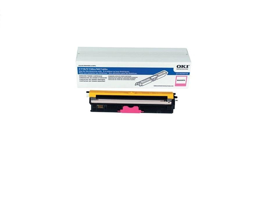OKI Genuine Magenta Toner Cartridge Type D1 For C110 C130N MC160 44250710 1500 Page