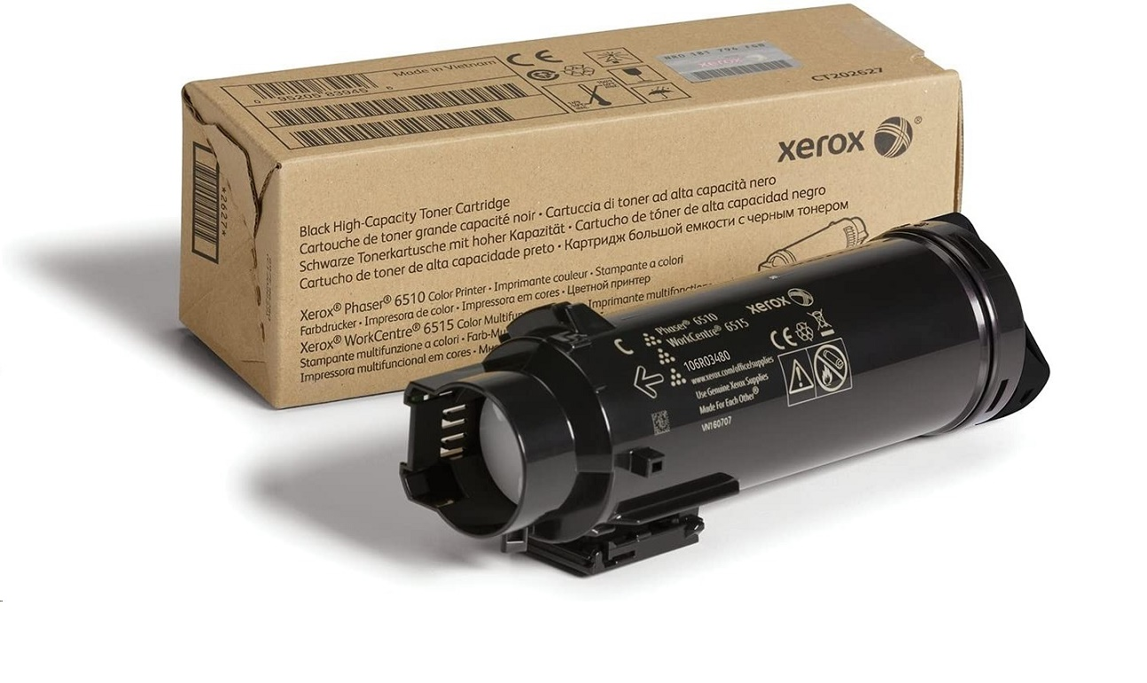 Xerox Black High Capacity Toner Cartridge For Phaser 6510 WorkCentre 6515 106R03480