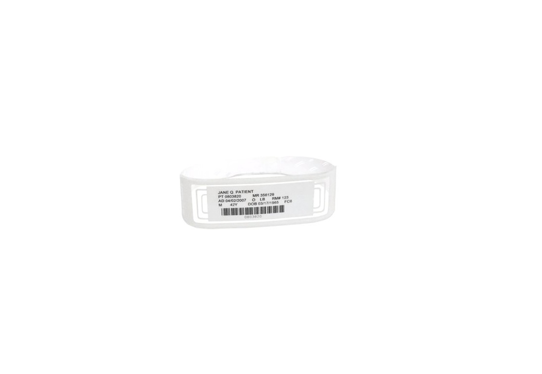 Zebra 3.375 X 1.125 500 Labels Per Case Omniband Wristband White LB2-ADULT-WL3