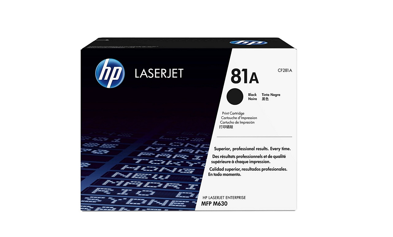 HP Genuine 81A Black Up To 10K Pages Yield LaserJet Toner Cartridge CF281A