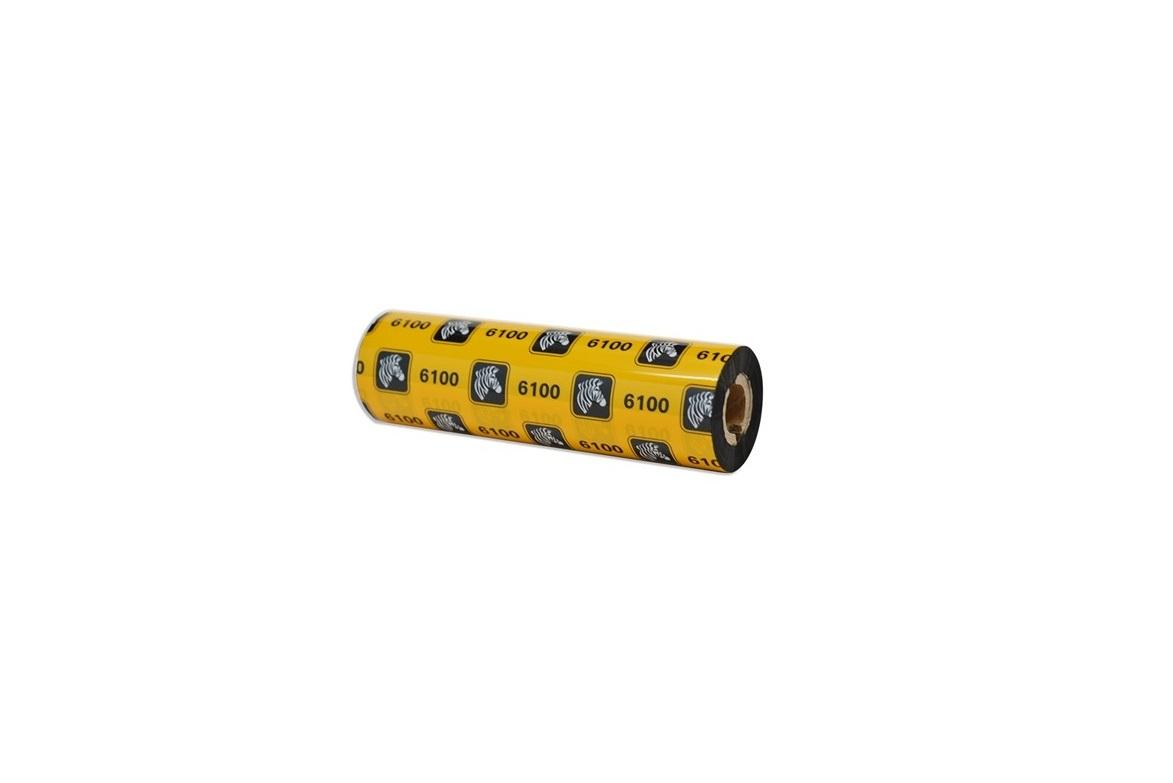 Zebra 6100 Wax-Resin Thermal Transfer Ribbon Single Roll 06100GS11007-R
