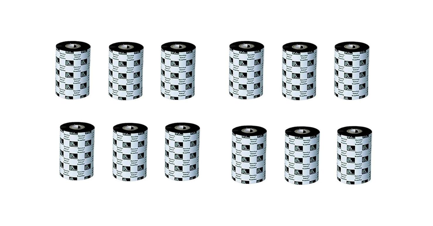 Zebra 4.33 X 244' Black Resin Ribbon 12-Pack 74943