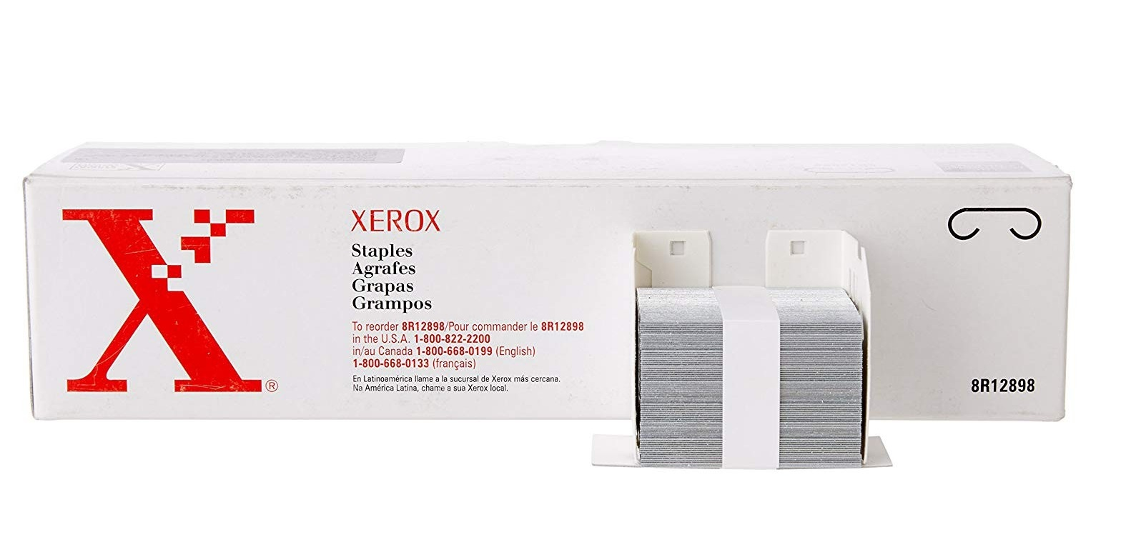 Genuine Xerox Staple Cartridge 100-Sheets Capacity Refills 008R12898
