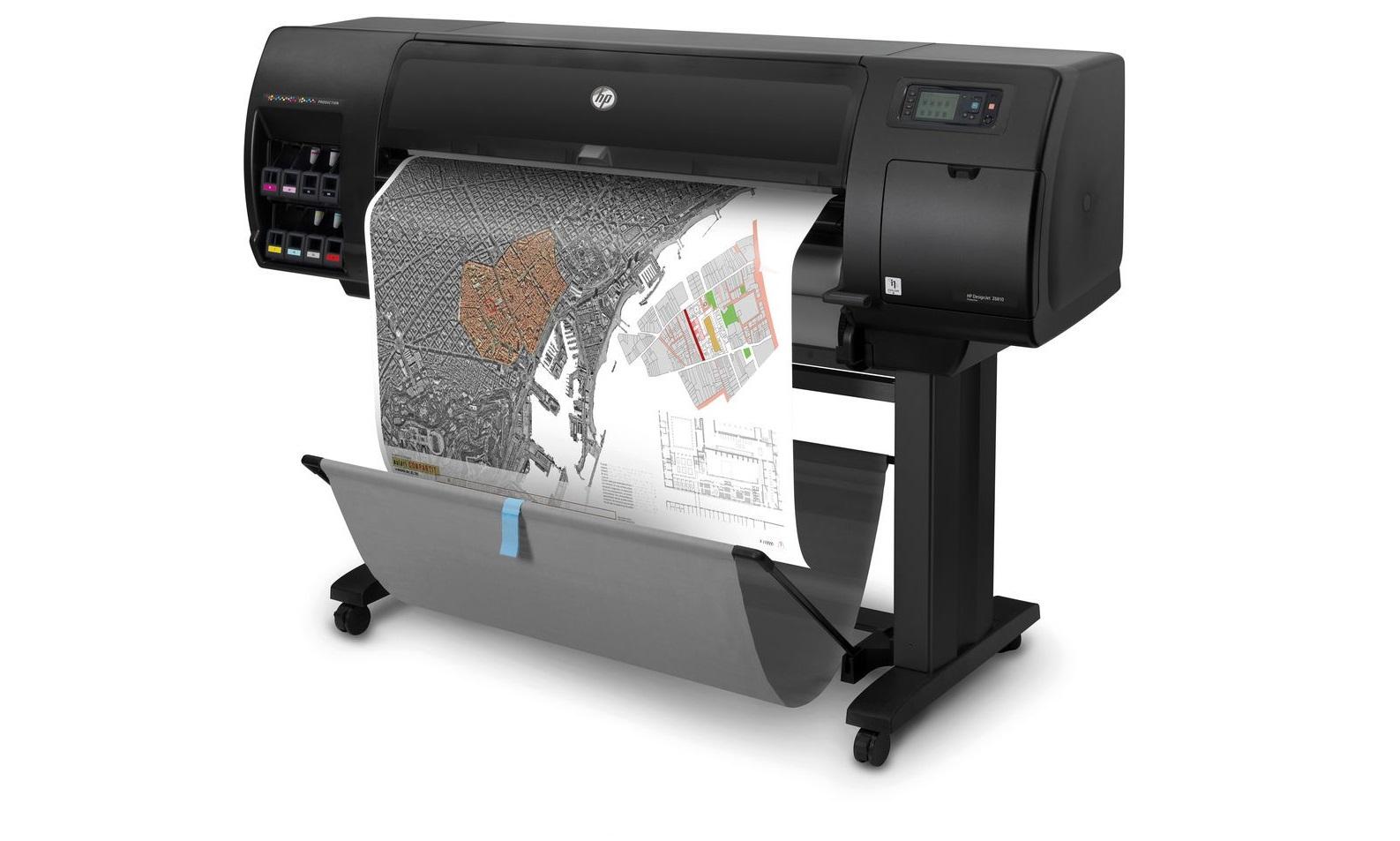 HP 2QU12A#B1K DesignJet Z6810 42 InkJet 8 Colors Large Format Printer 2QU12A