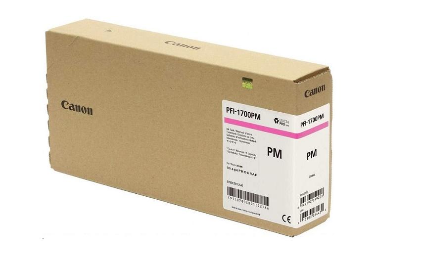 Canon Genuine 0780C001AA PFI-1700 Photo Magenta Ink Tank (700mL) 0780C001