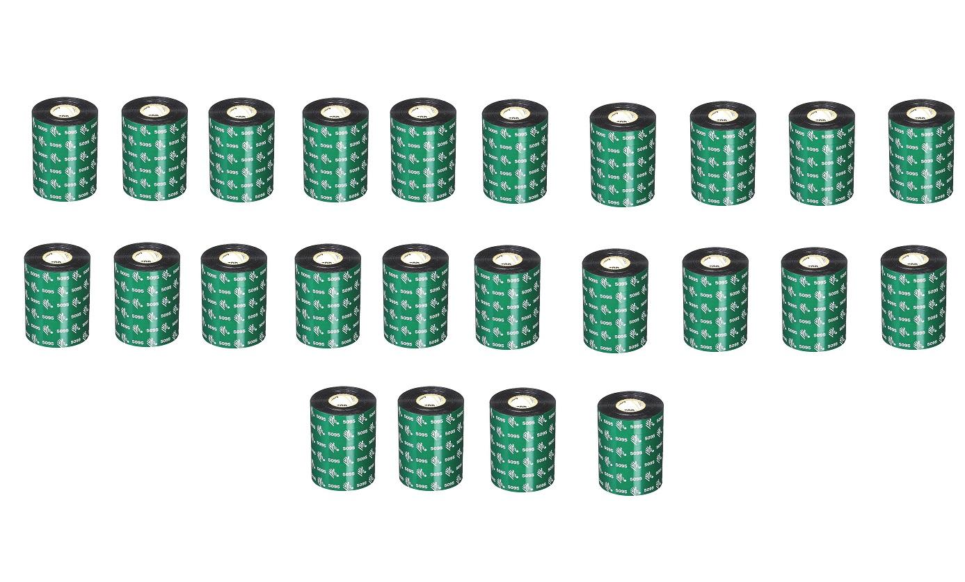 Zebra 5095 3.31x984' Performance Resin Thermal Transfer Ribbon Pack of 24 05095GT08430