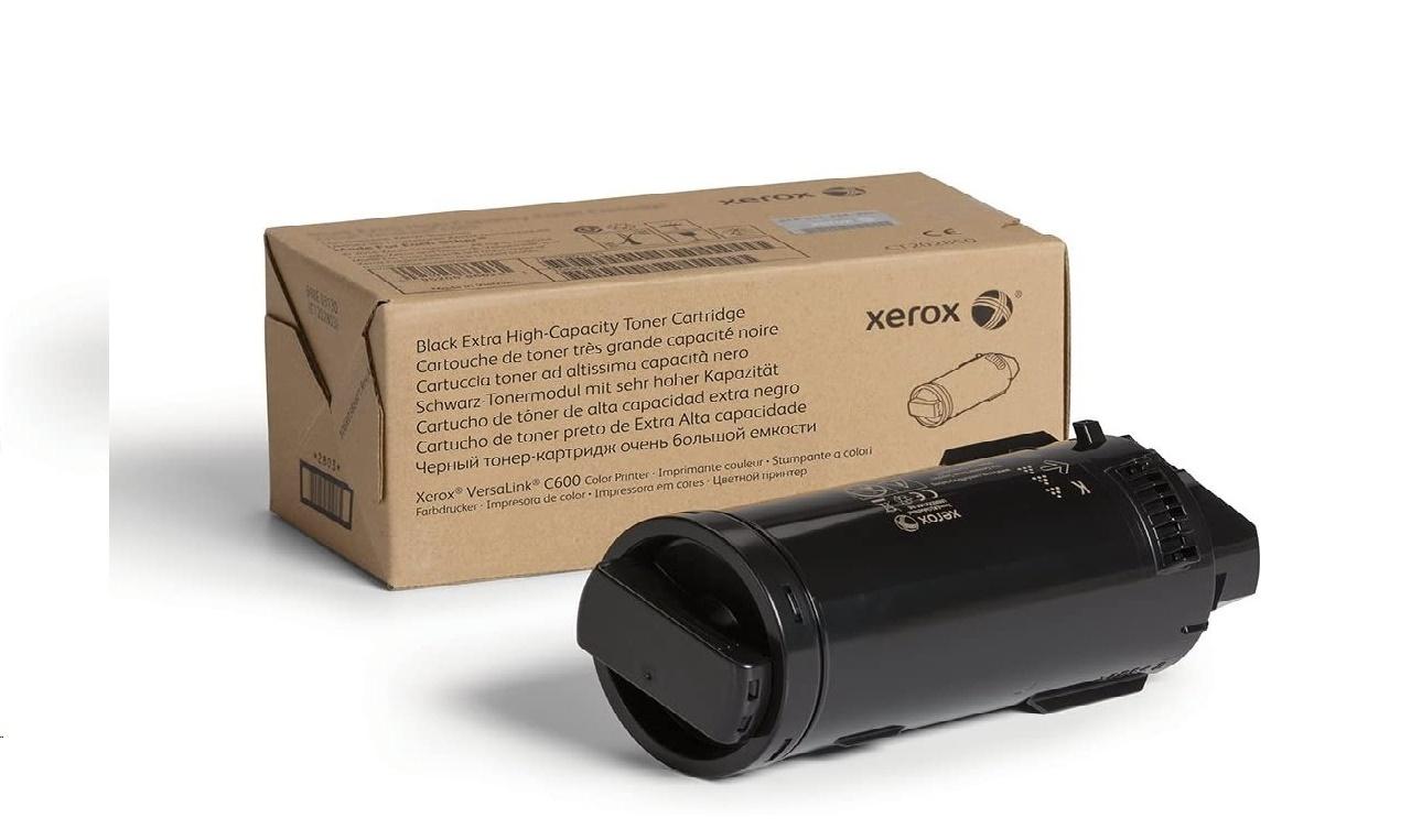 Xerox Genuine Black Extra High-Capacity Toner Cartridge For C600 106R03919