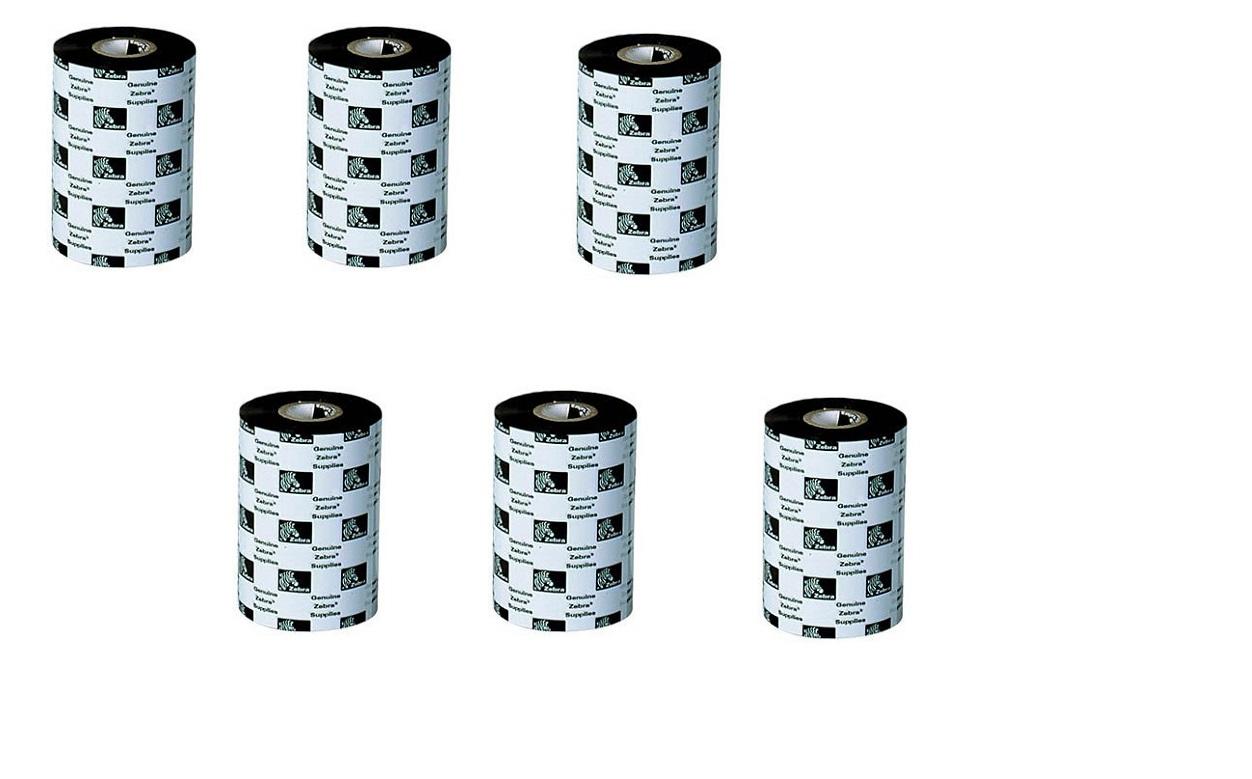 Zebra 8.66x1476' 5319 Thermal Transfer Wax Ribbon 6-Pack 05319BK22045