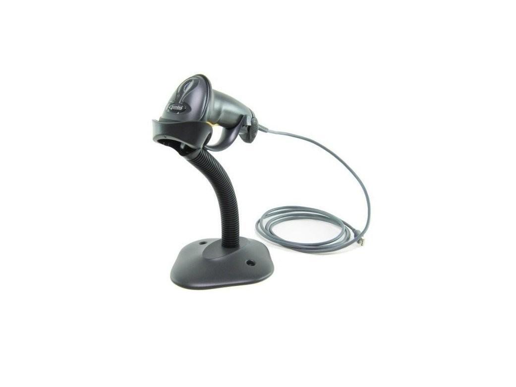Symbol LS 2208 BarCode Scanner HandHeld With Stand RJ45 To USB Black LS2208-SR20007R-UR