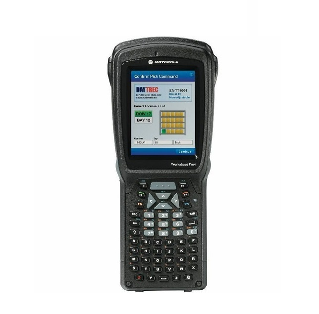 Zebra Mobile Workabout Pro 4 Mobile Computer Scanner 3.7 Wi-Fi Windows CE 6 WA4L11010100120W