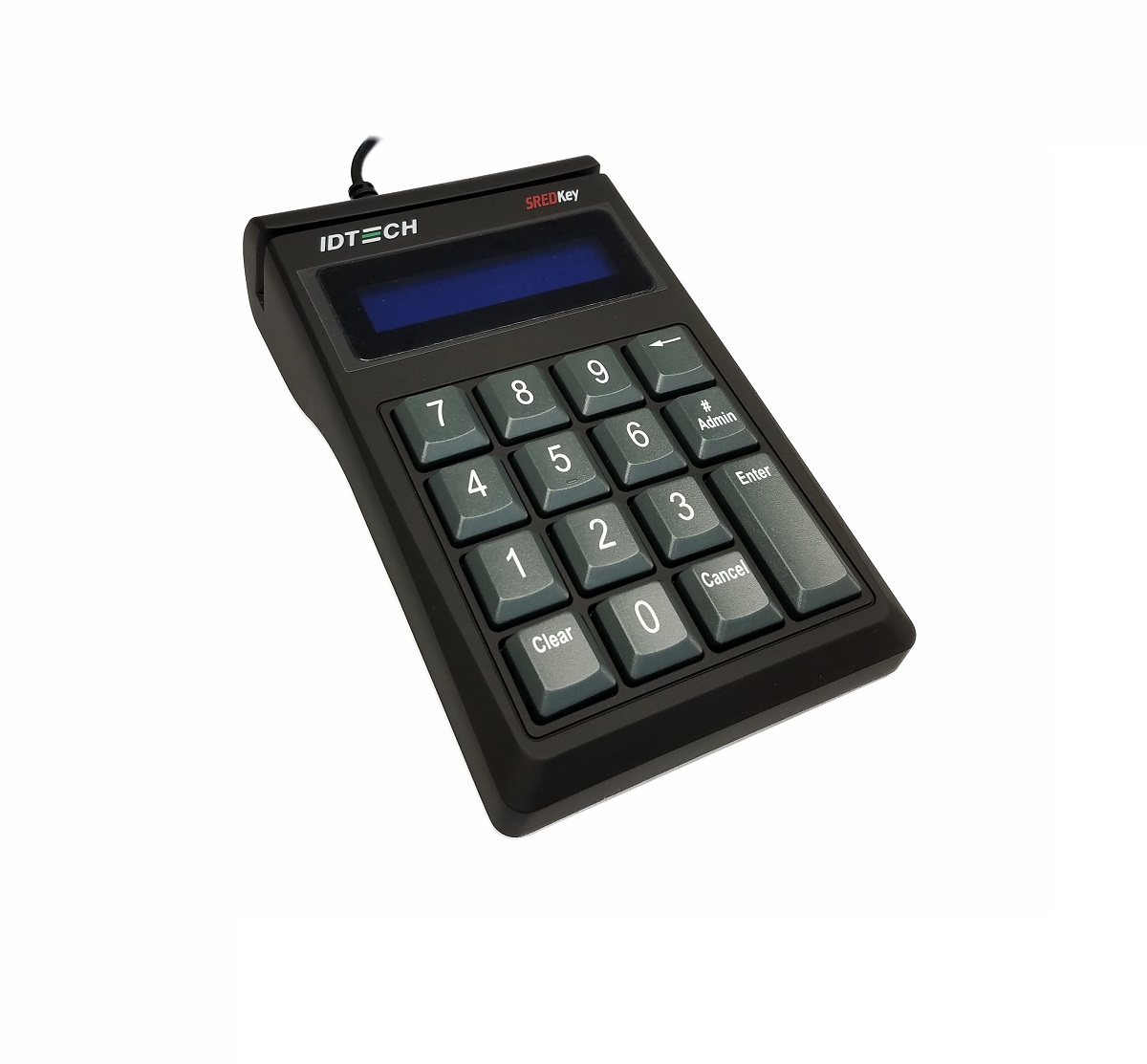 ID Tech SREDKey Payment Terminal LCD Display AES Usbusb Black TAA Compliance