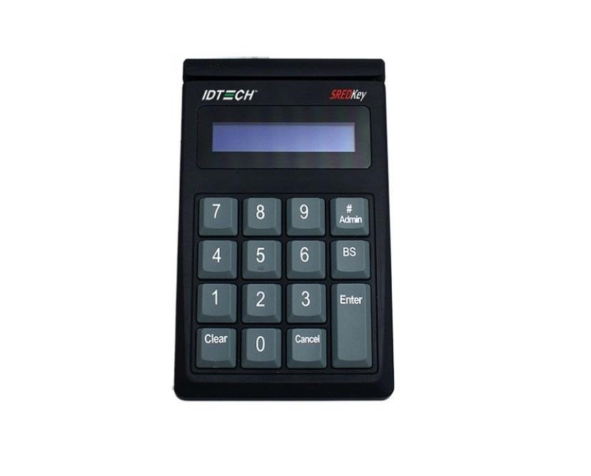 ID Tech SREDKey Key Pad With MagStripe Reader USB Black IDSK-535833TEB