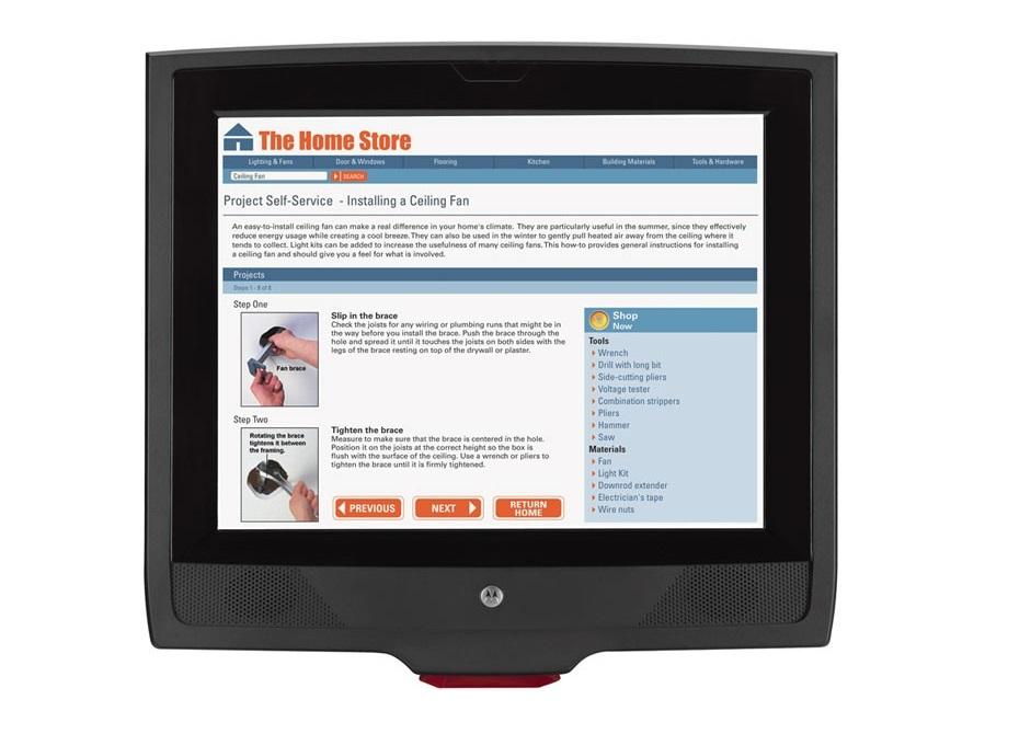 Motorola Symbol MK4000 MultiMedia 12.1 TouchScreen Micro Kiosk Wired Ethernet Scanner MK4000-A30PZ0GWTWR