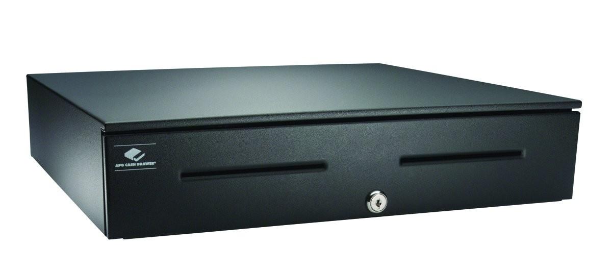 Apg JB554A-BL1816-C 18x16 5xBill 5xCoin USB Cash Drawer Black