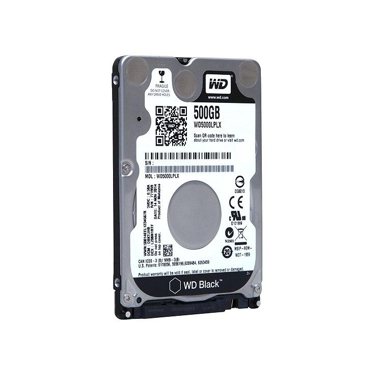 Western Digital 500GB WD Black 7200RPM Sata 6GB/s 32MB Cache 2.5 Internal Hard Drive WD5000LPLX