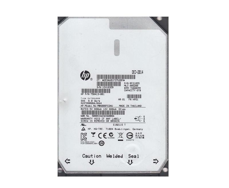 6TB Hitachi HP UltraStar SAS 3.5 Internal Hard Drive HUS726060ALS640