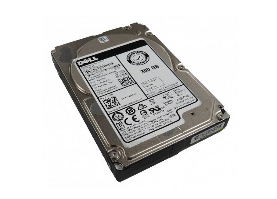 300GB Dell 10K RPM 2.5 SAS 12GB/s HDD 02M5JK 2M5JK