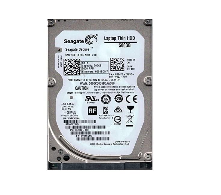 Seagate 500GB Momentus Thin Sata 5400RPM 16MB Buffer 2.5 Internal Hard Drive ST500LT015