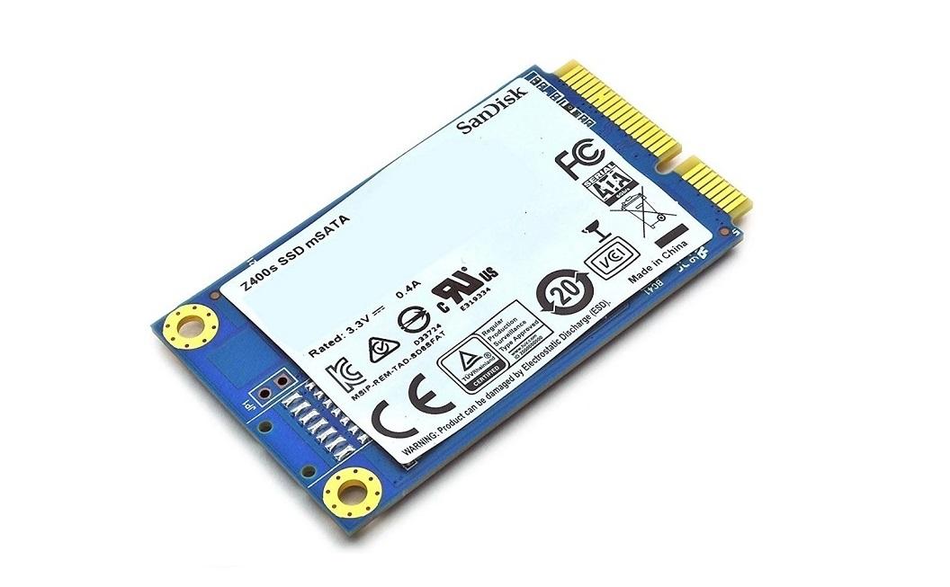 Sandisk 128GB Z400s Internal Solid State Drive Msata 1.18 SD8SFAT-128G-1122