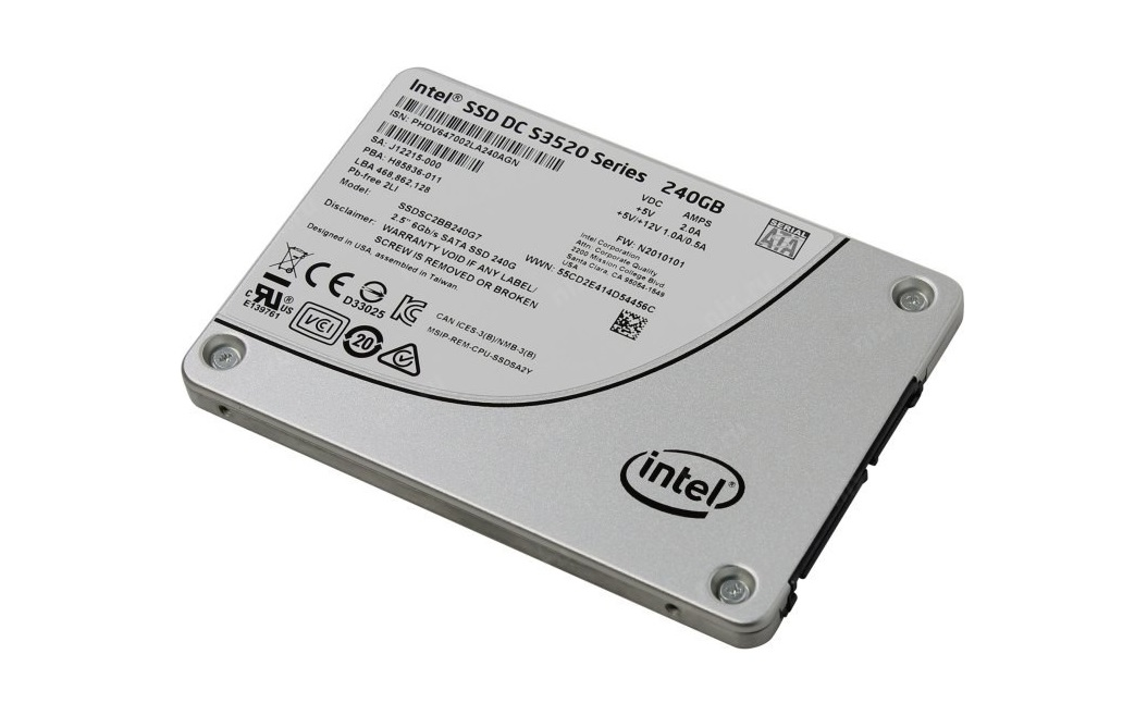 240GB Intel DC S3520 SATA 3.0 6GB/s Internal Solid State Drive SSDSC2BB240G701