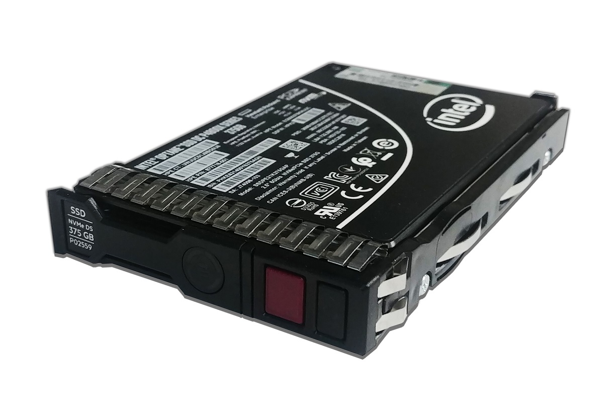 375GB HP Nvme SFF 2.5 Internal Hot Swap SSD Hard Drive P02559-001