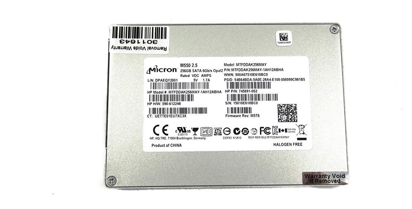 Micron 256GB Sata Ssd 2.5' Solid State Drive MTFDDAK256MAY