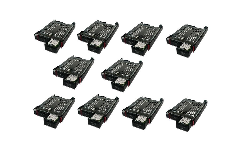 Lot of 10 240GB HP (2x120GB) SATA 6GB/s Hot-Swap Dual SSD Hard Drive 822593-B21