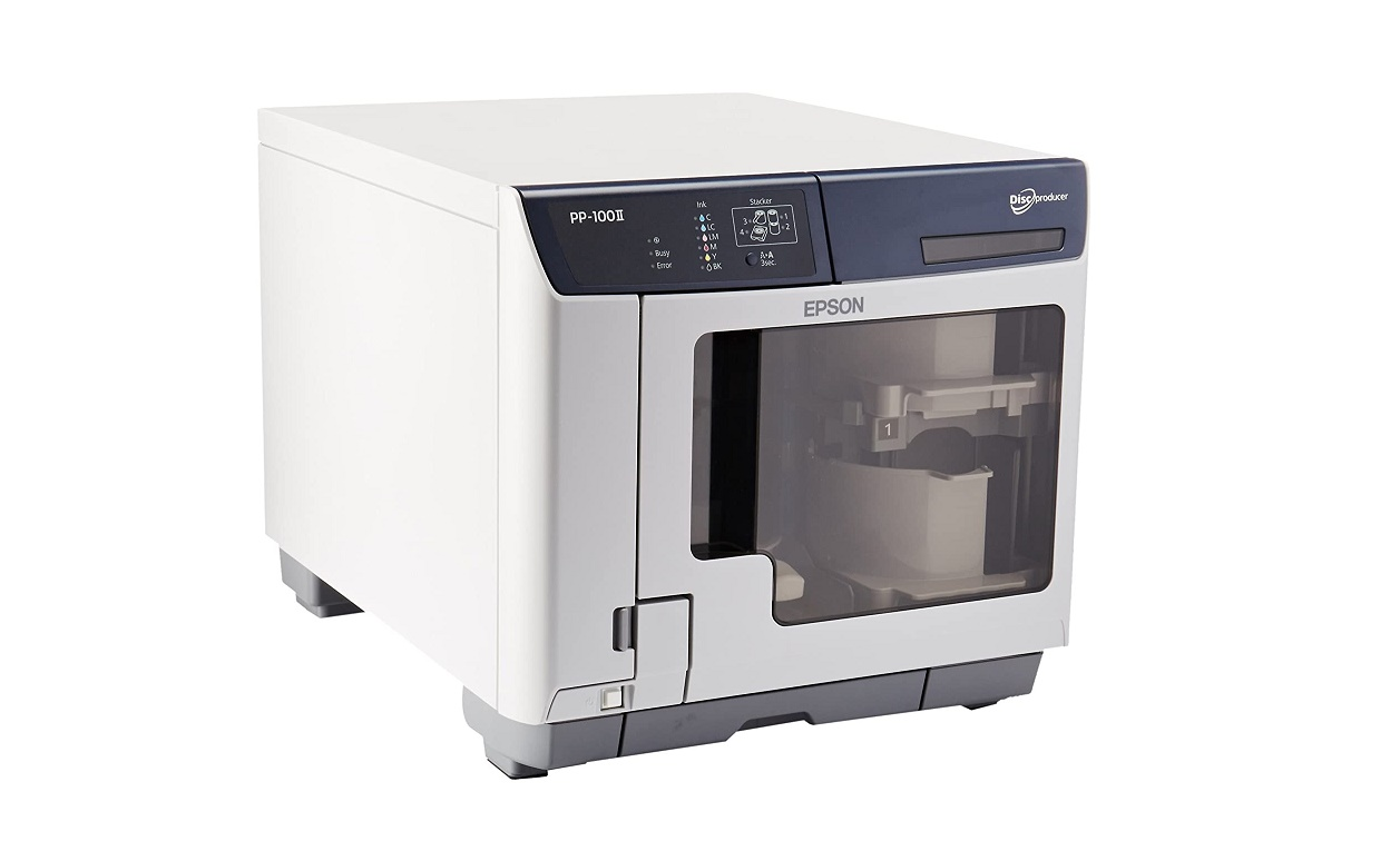 Epson (PP-100II) Cds Dvds 100x Discproducer Standard Disc Publisher Usb 3.0 White C11CD37001