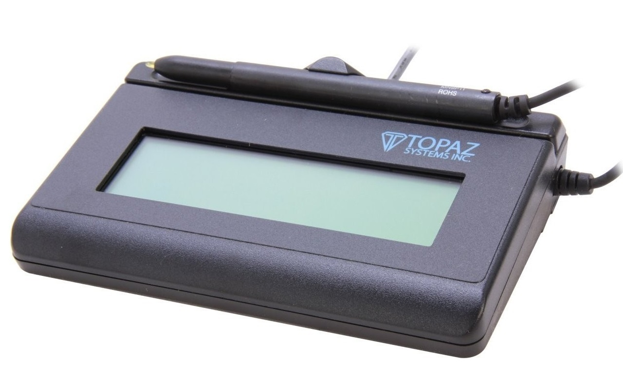 Topaz Systems Signaturegem T-L462 LCD 1x5 Signature Capture Pad USB T-LBK462-HSB-R