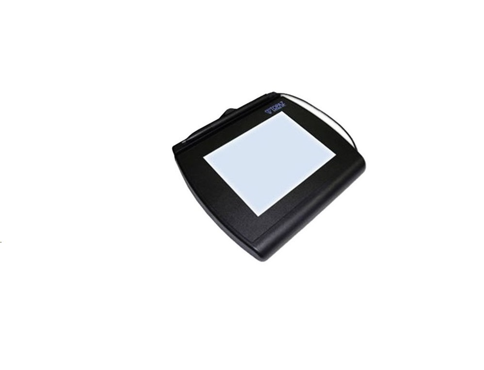 Topaz Signature Capture Tablet With InterActive 4x5 LCD USB Serial T-LBK766SE-BBSB-R