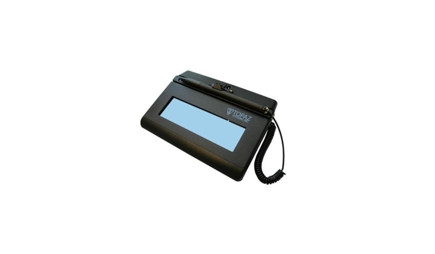Topaz Siglite 1x5 LCD BlueTooth Signature Capture Pad T-LBK460-BT2-R