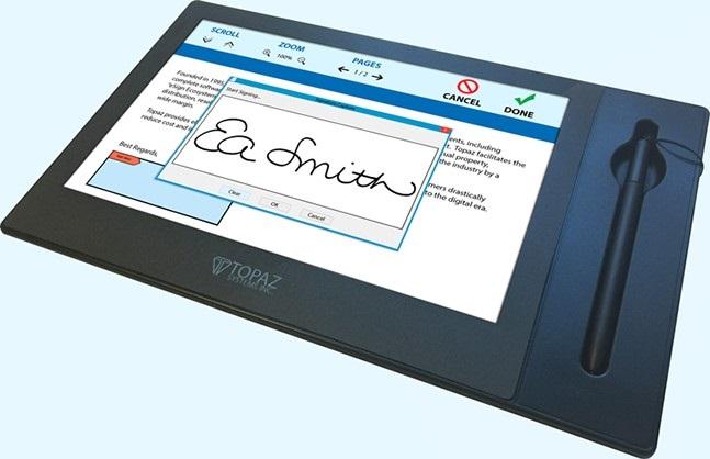 Topaz Systems Gemview Signature Terminal USB 10 Blacklit Lcd Display TD-LBK101VA-USB-R