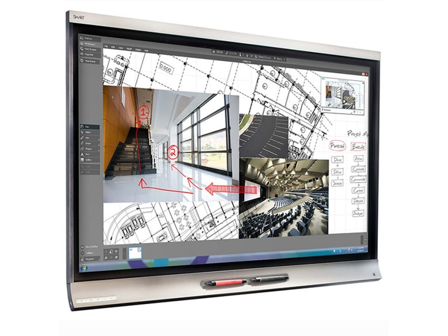 Smartek 75 Smart Technology 6000 Pro Series Interactive Wireless 4K 3840x2160 Led Usb Whiteboard SPNL-6275P