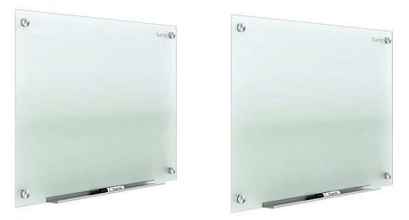 Lot of 2 Quartet Infinity 48x96 Frameless Frosted Glass Markerboard 2-Pack G9648F