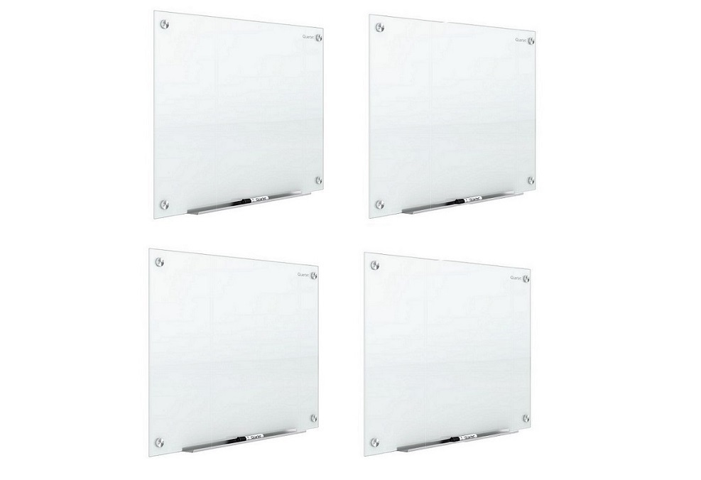 Quartet Lot Of 4x 4'x3' Glass Magnetic Dry Erase White Board G4836W-4 4-Pack