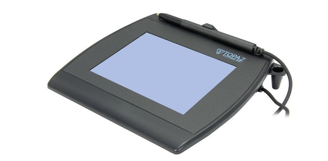 Topaz Systems Signature Capture Pad Lcd 4x5 Serial Usb T-LBK766-BBSB-R