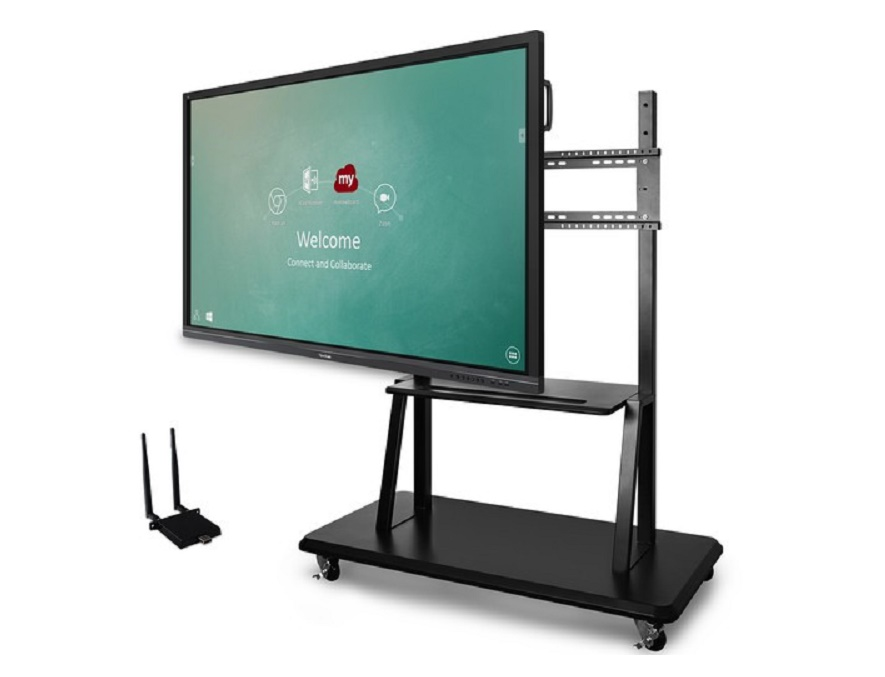 Viewsonic 86 IFP8650 Viewboard Interactive 4K Flat Panel Education Bundle w/Trolley Cart IFP8650-E2