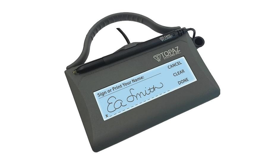 Topaz Systems Siggem Wowpad Series Lcd 1x5 Usb Signature Pad T-LBK462-HSX-RG