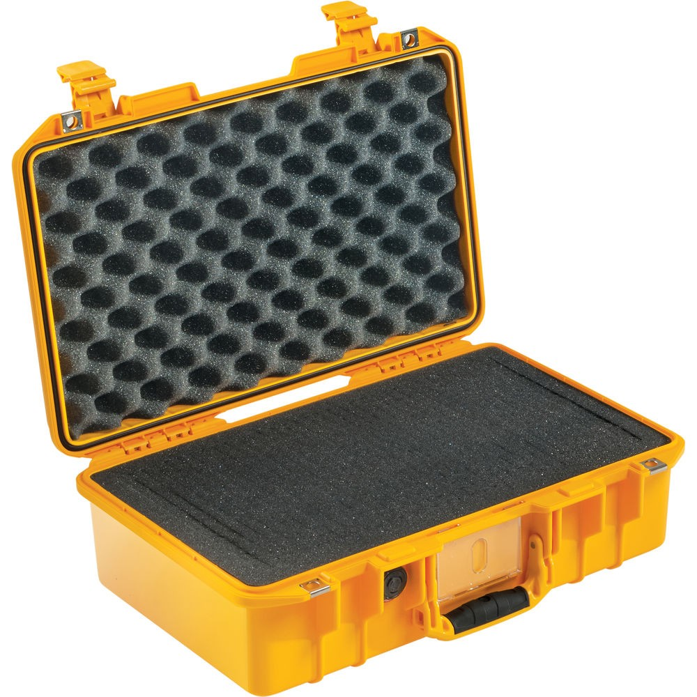 Pelican 1485Air Compact Hand-Carry Case With Pick-N-Pluck Foam Yellow 014850-0000-240