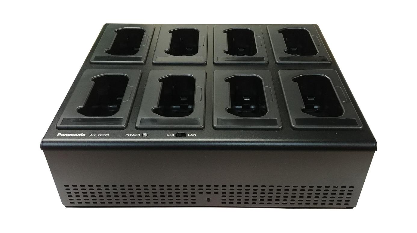 Panasonic MK3 Bwc 8-Bay Multi Dock Charger + Power Supply For Arbitrator Body Camera ARB-BWC3-8BAY