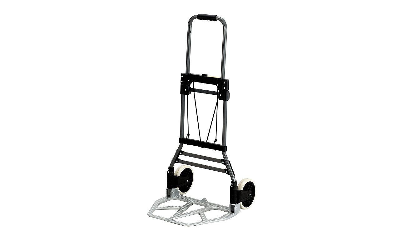 Safco 4062 Stow-Away Collapsible Utility Hand Truck Silver Black