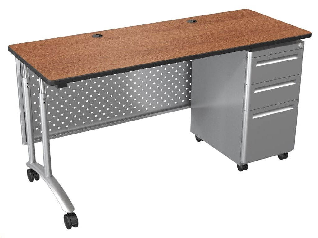 Balt Modular Teacher's Desk Single Pedestal Desk Set 90451-7919-BK