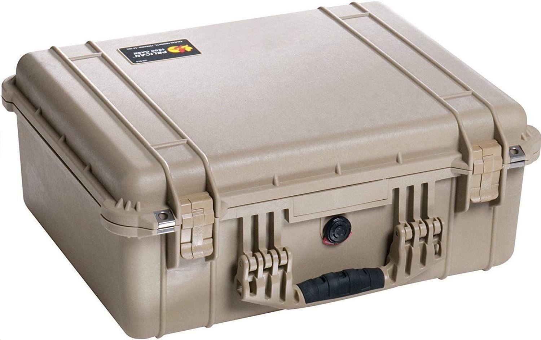 Pelican 1550 Camera Case With Foam Desert Tan 1550-000-190