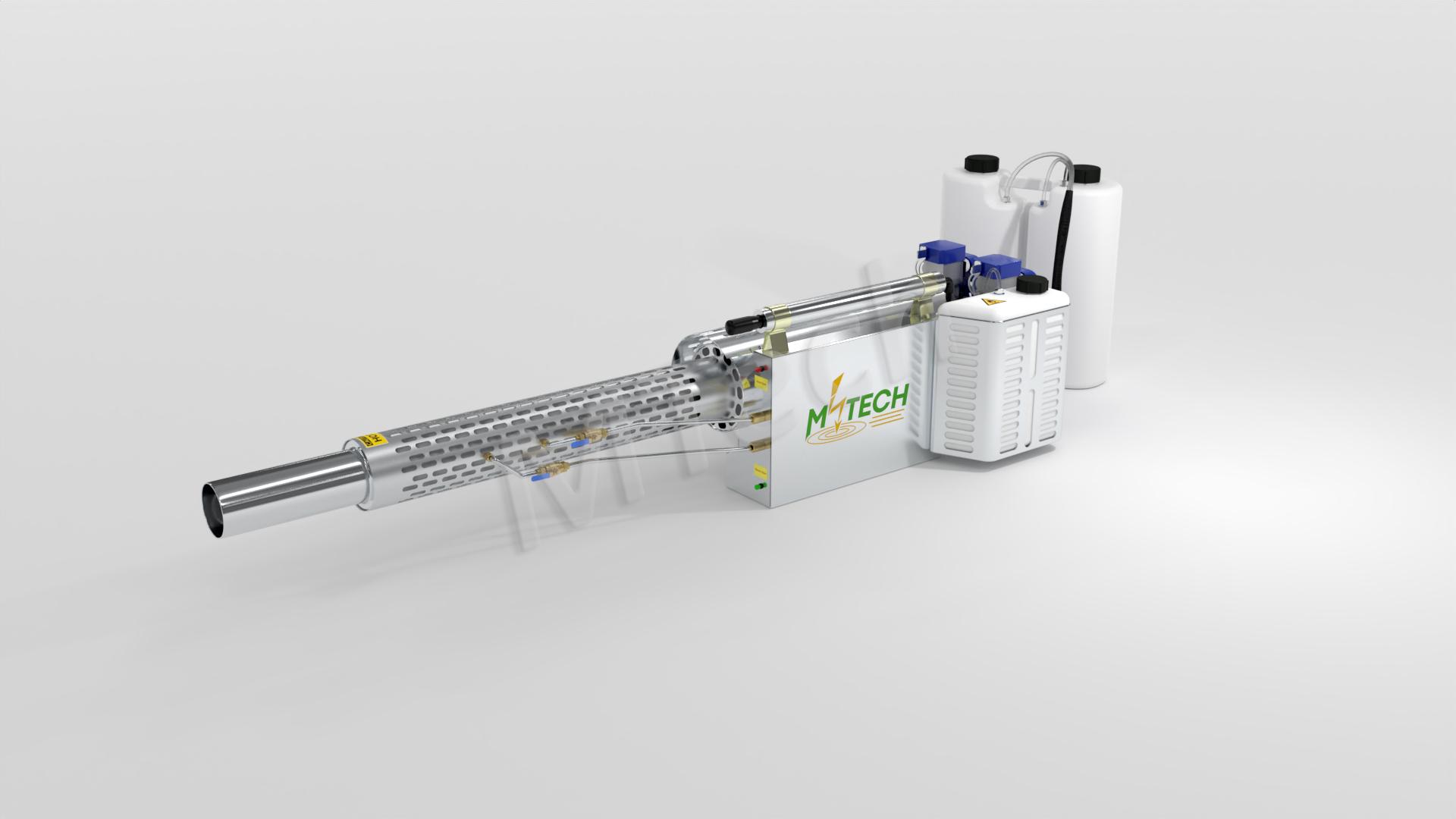 Mtech Nano 3 Gallons Ulv Smoke Pulse Gasoline Disinfector Thermal Fogger Sprayer 2-4um Up To 40ft Outside Inside MODEL M75