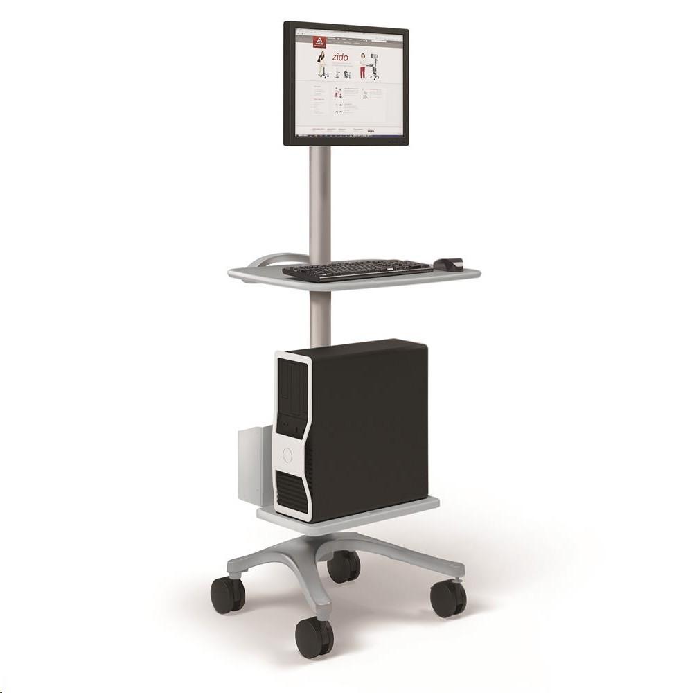 Ergotron Zido Computer Cart Up To 30 Monitor 118lb Load Capacity BZD06CG/CG4