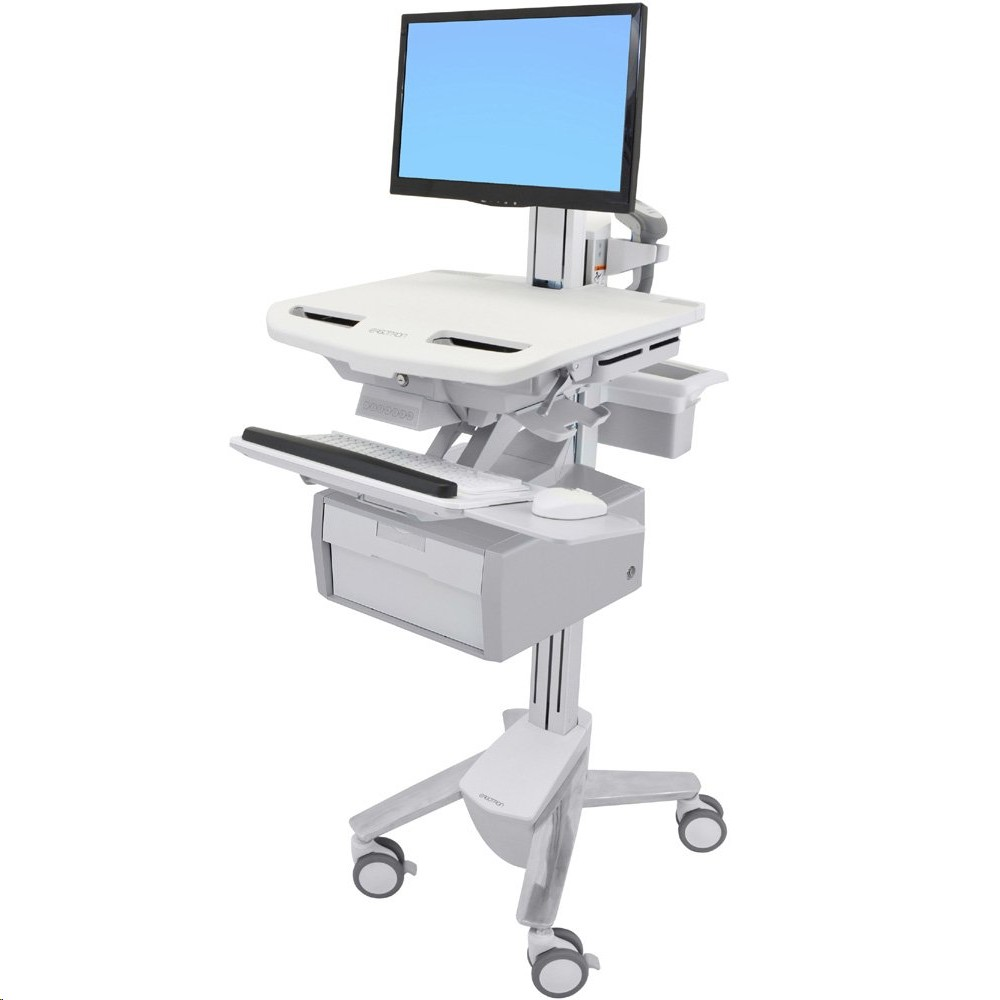Ergotron Styleview Cart With Lcd Pivot 1 Tall Drawer Medical SV43-13B0-0