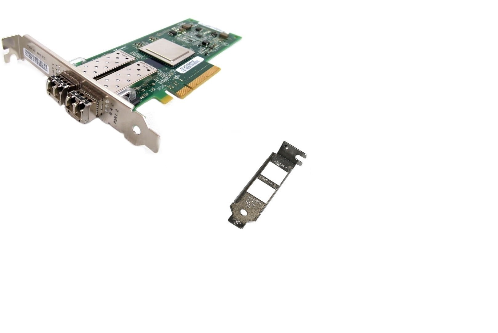 Dell QLogic 342-3548 SANblade 8GB Dual Port Fibre PCI-E QLE2562-DEL w/ Transceivers