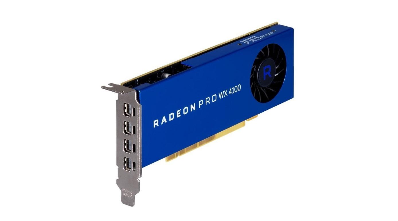 4GB AMD Radeon Pro Wx 4100 4x Mini Displayports PCI Express x16 GDDR5 Graphics Card 100-506008